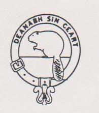 "Our logo is the Scottish clan badge. The motto (text) reads ""Deanabh sin ceart"" which is Gaelic and means ""Do it right."" Our crest is the beaver, the original North American wilderness engineer."