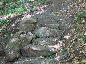 Newbury Trail work sites 8-19-15 SCA Relo, four steps